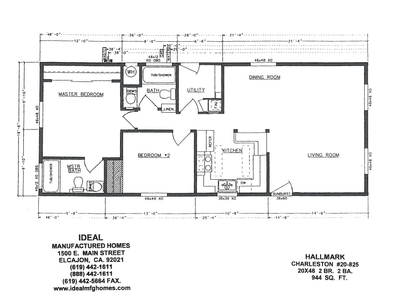 Floor plans for Hallmark Charleston – Charleston Homes Floor Plans