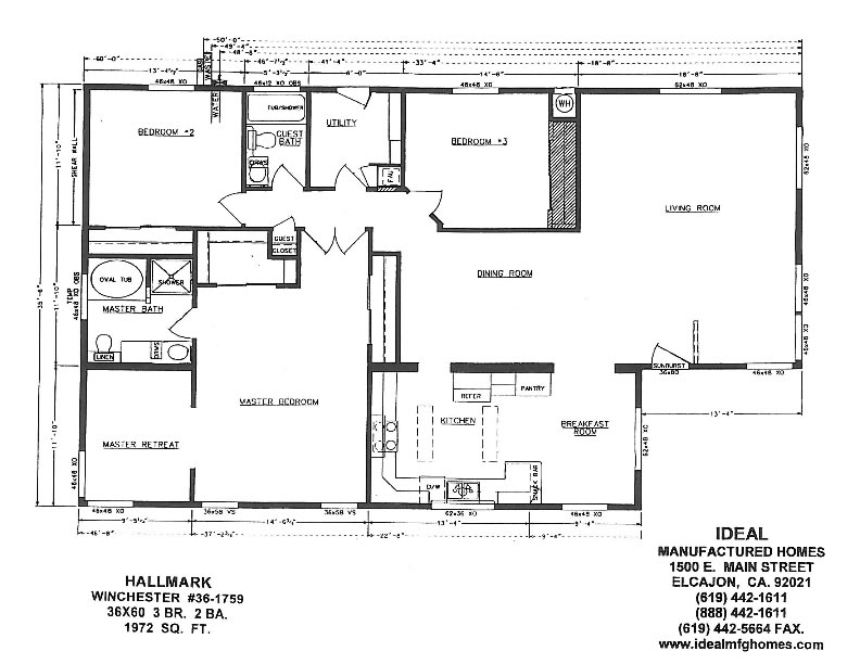 Mobile Homes Floor Plans Triple Wide